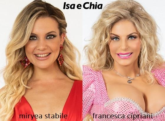 Somiglianza tra Francesca Cipriani e Miryea Stabile de 'La Pupa e il Secchione e viceversa'