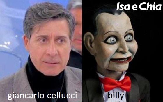 Somiglianza tra Giancarlo Cellucci e Billy