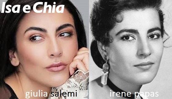 Giulia Salemi e Irene Papas