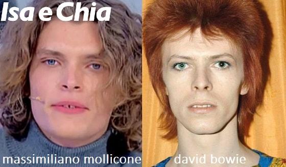 Somiglianza tra Massimiliano Mollicone e David Bowie