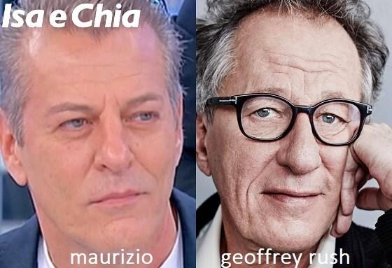 Somiglianza tra Maurizio e Geoffrey Rush