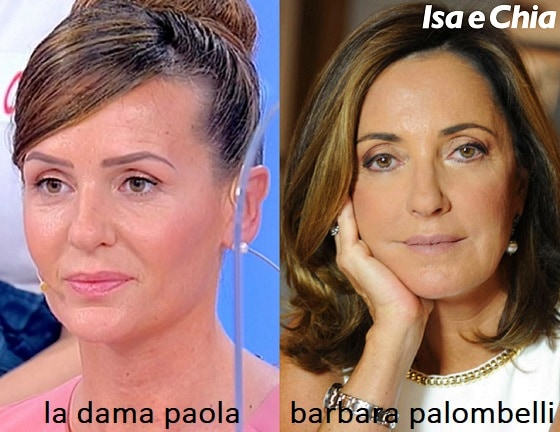 Somiglianza tra Paola, dama del Trono over di Uomini e Donne, e Barbara Palombelli