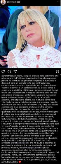 """Uomini e Donne, Aurora Tropea rompe il silenzio: """"Mi sono rivolta alle autorità"""""""