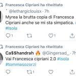 Francesca Cipriani Tweet Miryea