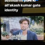 Manfredi Ferlicchia punge Akash Kumar
