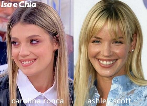 Somiglianza tra Carolina Ronca e Ashley Scott