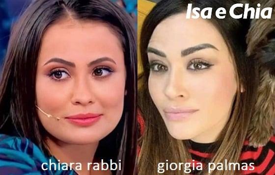 Somiglianza tra Chiara Rabbi e Giorgia Palmas