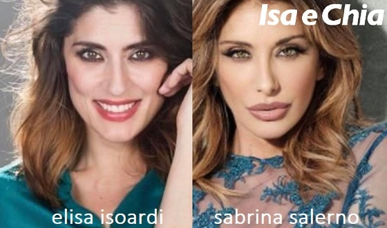 Somiglianza tra Elisa Isoardi e Sabrina Salerno