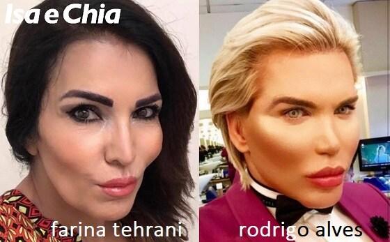 Somiglianza tra Fariba Tehrani e Rodrigo Alves