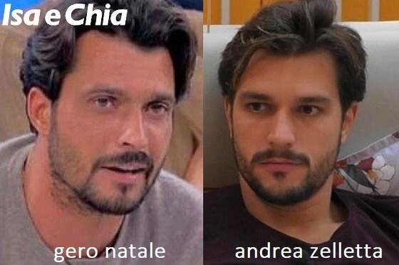 Somiglianza tra Gero Natale e Andrea Zelletta