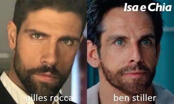 Somiglianza tra Gilles Rocca e Ben Stiller