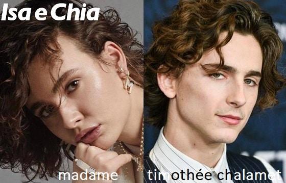 Somiglianza tra Madame e Timothée Chalamet