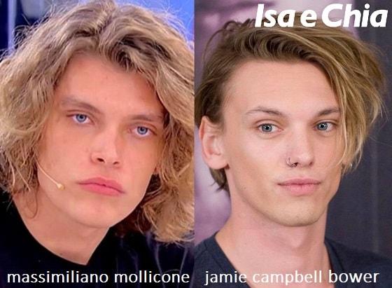 Somiglianza tra Massimiliano Mollicone e Jamie Campbell Bower