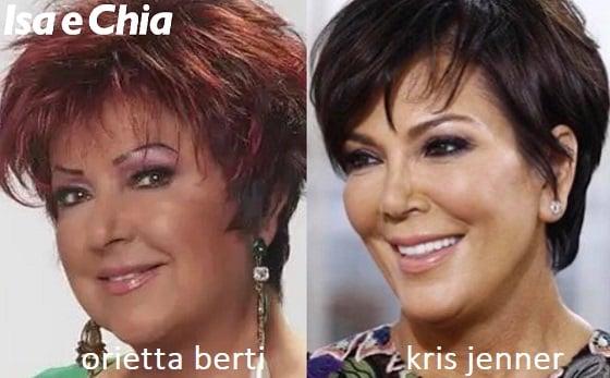 Somiglianza tra Orietta Berti e Kris Jenner