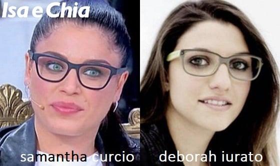 Somiglianza tra Samantha Curcio e Deborah Iurato