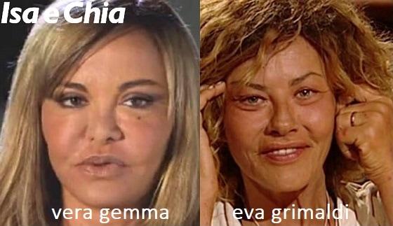 Somiglianza tra Vera Gemma e Eva Grimaldi