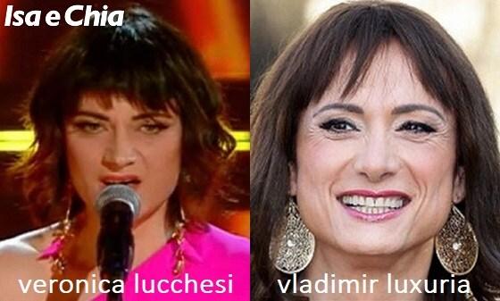 Somiglianza tra Veronica Lucchesi de La rappresentante di lista e Vladimir Luxuria