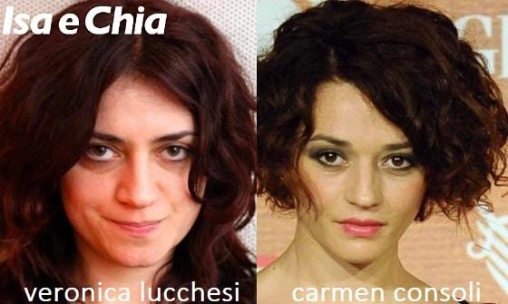 Somiglianza tra Veronica Lucchesi e Carmen Consoli