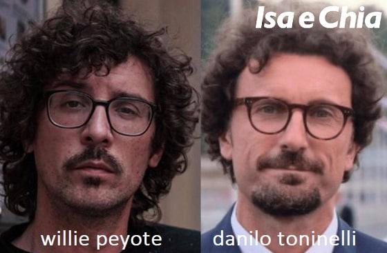 Somiglianza tra Willie Peyote e Danilo Toninelli