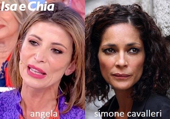 Somiglianza tra Angela e Simona Cavalleri