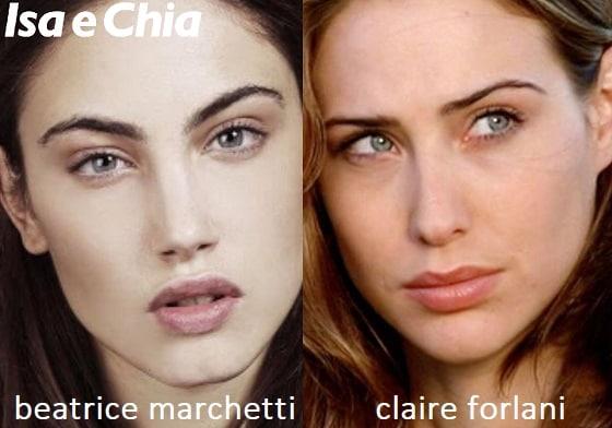 Somiglianza tra Beatrice Marchetti e Claire Forlani