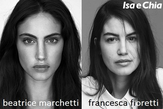 Somiglianza tra Beatrice Marchetti e Francesca Fioretti