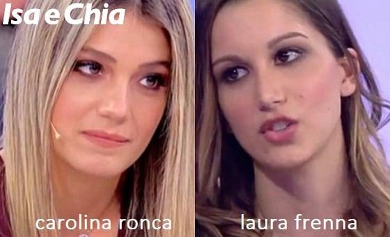 Somiglianza tra Carolina Ronca e Laura Frenna