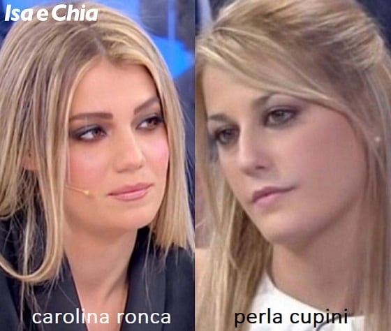 Somiglianza tra Carolina Ronca e Perla Cupini