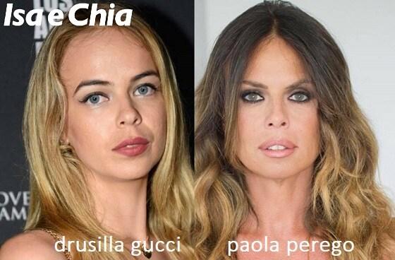 Somiglianza tra Drusilla Gucci e Paola Perego