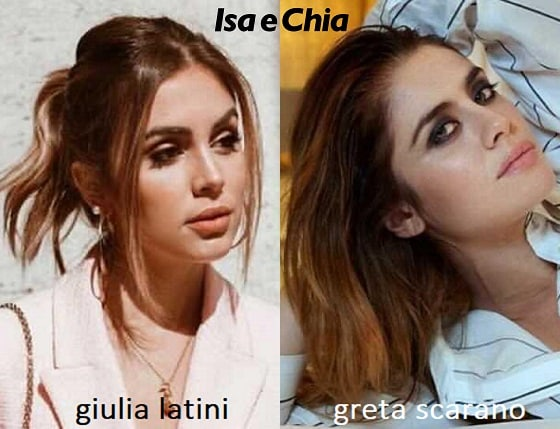 Somiglianza tra Giulia Latini e Greta Scarano
