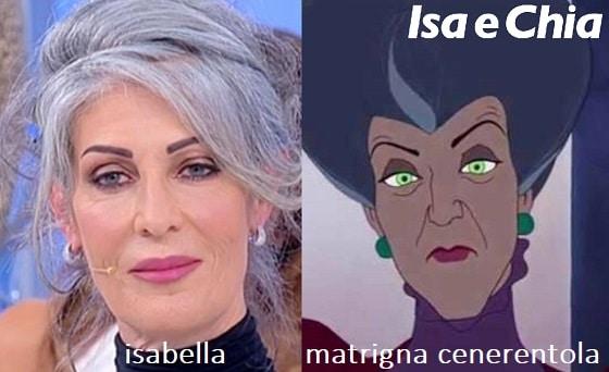 Somiglianza tra Isabella e la matrigna di Cenerentola