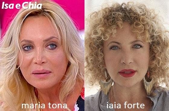 Somiglianza tra Maria Tona e Iaia Forte