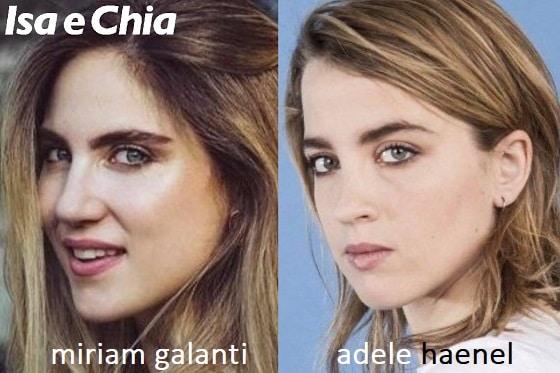 Somiglianza tra Miriam Galanti e Adele Haenel