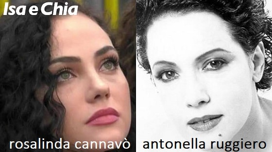 Somiglianza tra Rosalinda Cannavò e Antonella Ruggiero