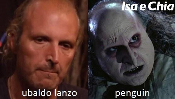 Somiglianza tra Ubaldo Lanzo e Penguin