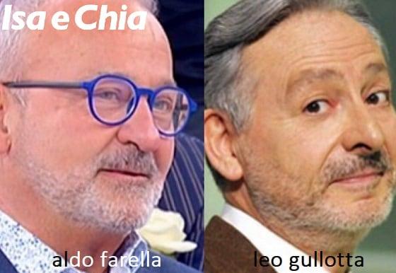 Somiglianza tra Aldo Farella e Leo Gullotta