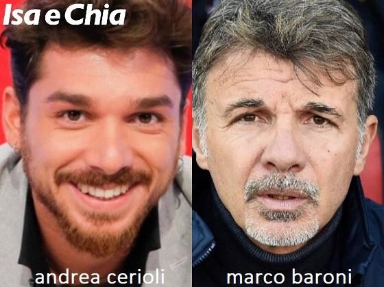 Somiglianza tra Andrea Cerioli e Marco Baroni