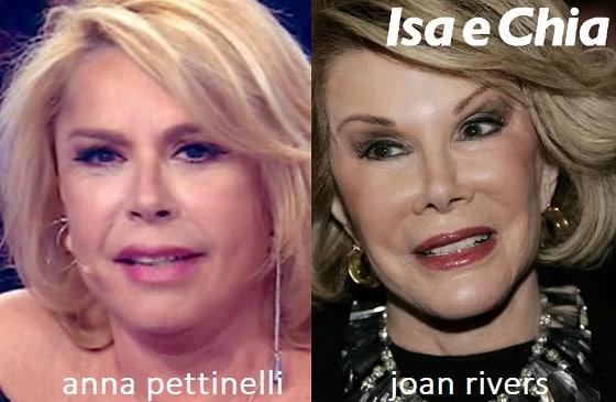 Somiglianza tra Anna Pettinelli e Joan Rivers