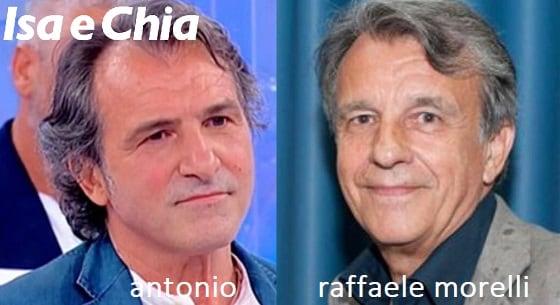 Somiglianza tra Antonio e Raffaele Morelli