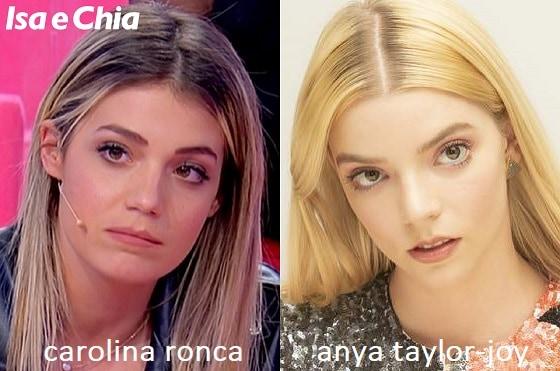 Somiglianza tra Carolina Ronca e Anya Taylor-Joy de La regina degli scacchi