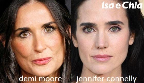 Somiglianza tra Demi Moore e Jennifer Connelly