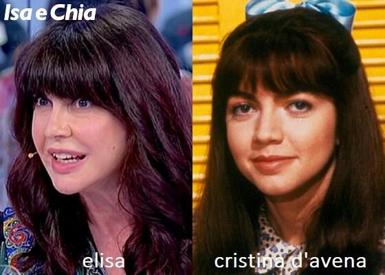 Somiglianza tra Elisa, dama del Trono over di Uomini e Donne, e Cristina D'Avena
