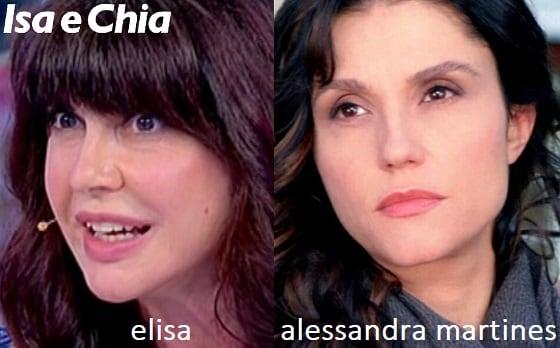 omiglianza tra Elisa e Alessandra Martines