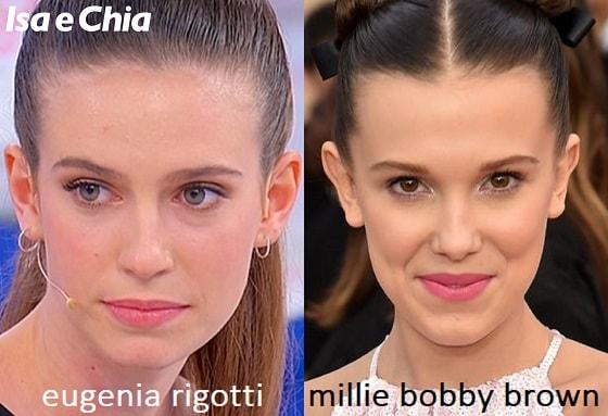 Somiglianza tra Eugenia Rigotti e Millie Bobby Brown
