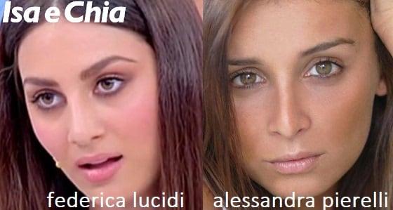 Somiglianza tra Federica Lucidi e Alessandra Pierelli