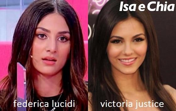 Somiglianza tra Federica Lucidi e Victoria Justice