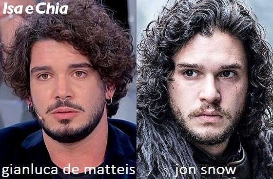 Somiglianza tra Gianluca De Matteis e Jon Snow de Il Trono di Spade