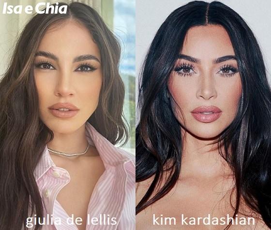 Somiglianza tra Giulia De Lellis e Kim Kardashian