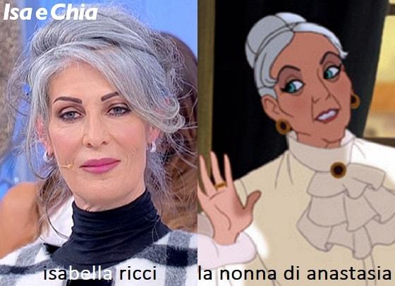 Somiglianza tra Isabella Ricci e la nonna di Anastasia