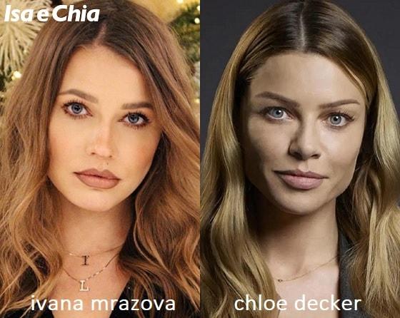 Somiglianza tra Ivana Mrazova e Chloe Decker di Lucifer